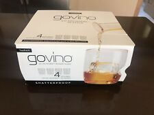 NEW Govino 4 Whiskey Glasses Flexible Shatterproof Recyclable Reuseable BPA Free