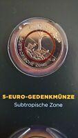 5 Euro Gedenkmünze BRD 2018 G Stgl.subtropische Zone Sammelalbum+Zertifikat...