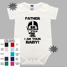I Am Your Baby Star Wars Unisex Cotton Baby One Piece Funny Fathers Day Dad Gift