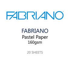 Fabriano Pastel Papel Pack De 20 Hojas - 5 Colores 160 Gsm - 35 X 25 Cm