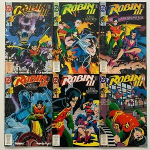 Robin III #1 to 6 complete series (DC 1992) FN & VF condition issues