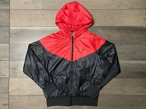 Nike Sportswear Windrunner Jacket Black Red Women's Large New Without Tags BNWOT