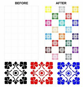 Mosaic Tile Stickers Azulejo Talivera for 150mm x 150mm / 6 x 6 Inch Tiles CG06