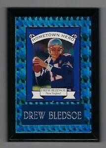 "Vintage 1994 6.5"" x 4.5"" Card Plaque Drew Bledsoe Hometown Hero Patriots #2"