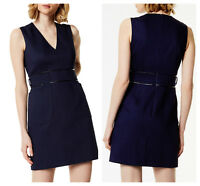 KAREN MILLEN Navy Blue Utility BNWT £170 Mini DC141 Dress UK Size 12 14 16 SALE