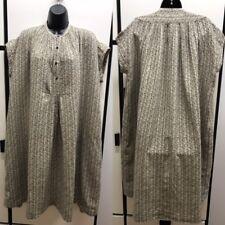 Kapital Japan S Cotton Linen Khaki Multi Color Mini Floral Fishermen Robe Dress