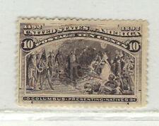 Usa Scott #237 Mint N/G Columbian 10c Cat. $150.00 (Pc39)