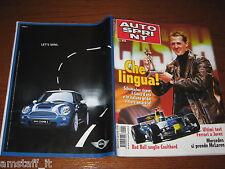 AUTOSPRINT 2004/50=MICHAEL SCHUMACHER=CASCHI D'ORO=PUBBLICITA' MINI COOPER S