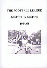 The Football League Match By Match 1964/65 Season Complete Statistics book