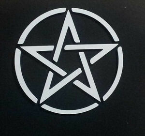 Pentacle Pentagram Wiccan Pagan Vinyl Decal Sticker
