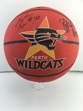 NBL *PERTH WILDCATS *SIGNED BASKETBALL. *10 Signatures Including *ANDREW VLAHOV.