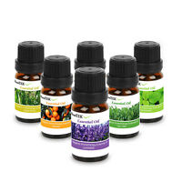 10ml Essential Oil Set -6 Pack Pure & Natural Aromatherapy Essential Oils Aroma