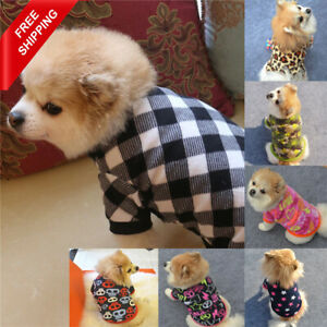 Pet Dog Warm Sweater Jacket Fleece Shirt Clothes Protective Cute Soft Puppy Coat