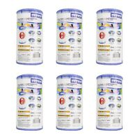 Intex Pool Easy Set Type A Replacement Filter Pump Cartridge | 29000E (6 Pack)