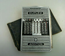 Zahlenschieber-Rechner Addiator Typ Duplex Alublech ab 1930 (64463)