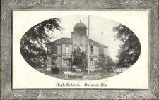 Durand IL High School c1910 Postcard