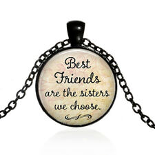 ''Best Friends Are The Sisters We Choose''Best Friendship Necklaces black