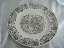 C4 ceramica BROADHURST Tudor Villaggio Plate 24cm 3A6A