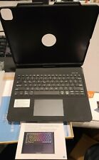 12.9 iPad Pro Case W/Keyboard 360 Rotate & RGB LED Back Light Pencil Holder