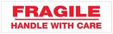 "2"" x 110 Yds 2 Mil ""Fragile Handle With Care"" Security Pre-printed Tape 36 Rolls"
