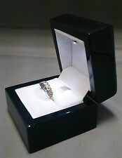 Real Wood Ring Box with LED Light. Wedding Ring Box or Engagement Ring Box