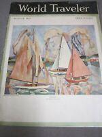 Magazine  World Traveler  1927   Mont Blanc  Copenhagen   Shanghai  Il de France