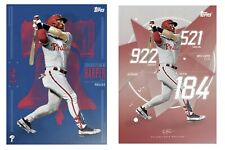 2019 TOPPS BRYCE HARPER LIMITED EDITION PHILLIES ART CARD A AND B - 2 CARD LOT
