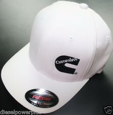 Dodge Cummins truck ram white cummings flexfit hat ball cap fitted flex fit l/xl