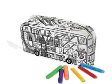 EggNogg Colour In Cotton Canvas London Bus Pencil Case