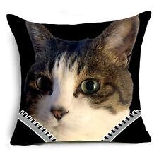 18'' Cartoon Cat Polyester pillow case cover sofa waist cushion cover Home Decor