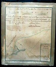 carte ancienne Cannes île Ste Marguerite document historique rare 1837