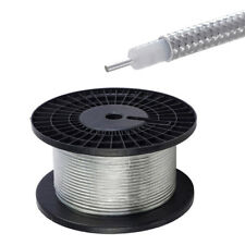 """50 feet RG402 .141"""" Semi Rigid Coaxial Cable with Tinned Copper Outer Conductor"""