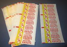 Lot of 60 Old Vintage 1960's - B B BATS Banana TAFFY Candy Wrappers - BASEBALL