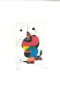 Joan Miro' Old Etching - Hand signed in pencil -