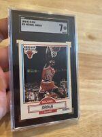 Michael Jordan SGC 7 Fleer #26 Last Dance INVEST 1990 Man Cave Collector Card NR