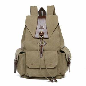 2020 Women Canvas Backpack School Shoulder Bag Retro Rucksack Mochila sac a dos
