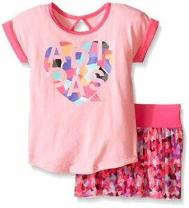 Genuine Adidas Baby Girl's Top and Skort Skirt 2 piece Set Size 12 months AG4970