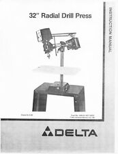 """Delta 32"""" Radial Drill Press Instruction Manual"""