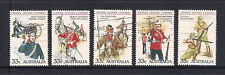 (UXAU061) AUSTRALIA 1985 Colonial Military Uniforms fine used complete set