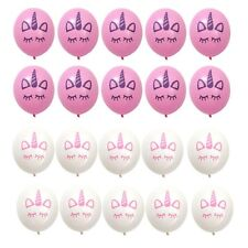 "20PCS Unicorn 10"" Latex Balloons Birthday Party Decorations Girls Magical Pink"