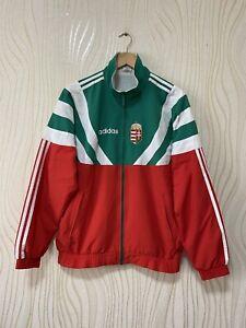 HUNGARY 80s 90s FOOTBALL SOCCER TRACK TOP JACKET ADIDAS sz M MENS VINTAGE RARE