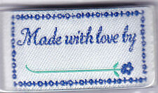 """BLUMENTHAL LANSING IRON ON LOVE LABELS - """"MADE WITH LOVE BY _________"""" - 4 PC"""