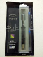 Parker Vector Limited Edition CT Fountain Pen Dark Blue + 2 ink Cartridges Free