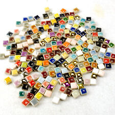 "200+ PCS Micro Mosaic Tiles 46 Color Ceramic R/G/B etc Mixture 3/8"" 0.97"
