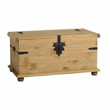 Corona Single Storage Chest Distressed Waxed Pine