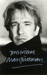 ALAN RICKMAN Signed Photograph - Film Actor Harry Potter SEVERUS SNAPE preprint