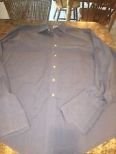 Brooks Brothers Dress Shirt 16/36 Blue With French Cuffs Non Iron Cotton