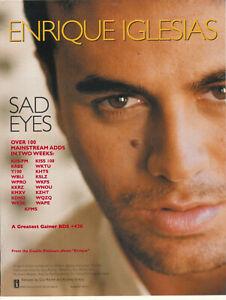 Enrique Iglesias 2000 Ad- Sad Eyes Advertisement KIIS-FM KRBE WBLI KKRZ WQZQ
