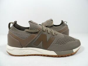 New Balance Men's 247 Engineered Sneaker Beige/Brown/White Size 10.5