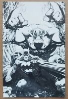 Batman / The Maxx #1 Comic - 2018 (NYCC) Jim Lee Virgin Cover - B/W Ltd to 750